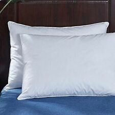 Hotel Collection Goose Down Bed Pillow King Size 20x36 Inch Set of 2 White New