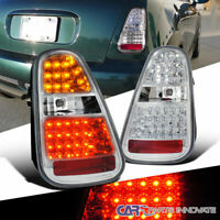 For 05-06 Mini Cooper S LED Clear Parking Tail Lights Rear Brake Lamps Pair