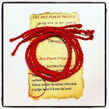 5 pcs KABBALAH RED STRING PROTECTION BRACELET AGAINST EVIL EYE & BLESSING CARD
