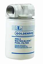"""GOLDENROD (596) Canister Water-Block Fuel Tank Filter with 1"""" NPT Top Cap"""