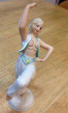 Schaubach Kunst Art Deco Signed German Porcelain Of A Dancing Slave Girl