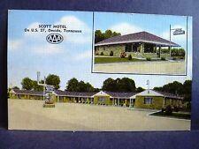 Postcard TN Oneida Scott Motel and Restaurant
