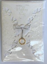On Your Wedding Day - Greeting Card - Accents Of Pearls, Ring, Bow, And Hearts