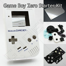 White GameBoy Zero Kit DMG-01 Shell Controller PCB Board Glass Screen & Buttons