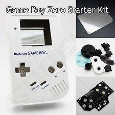 White GameBoy Zero Kit DMG-01 Shell Controller PCB Board Glass Screen & Buttons