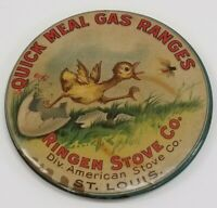 Very Rare Quick Meal Gas Ranges LARGE Celluloid Pocket Mirror St. Louis, MO