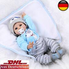 Reborn Baby Puppe 55cm Lebensecht Handgefertigt Weich Silikon-Vinyl Junge Neu DE