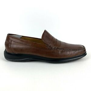 Cole Haan NikeAir Brown Leather Penny Loafers C06154 Mens Size 12M Excellent