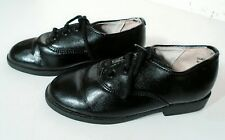 BOYS DYNAKIDS DRESS SHOES - BLACK - SIZE 7 1/2 - BARELY WORN