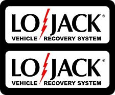 Vehicle Recovery Lo-Jack Auto Automotive Security Alarm Decal Decals 2-Pack