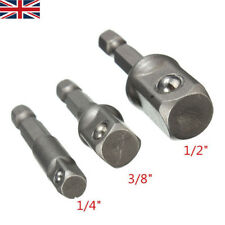 Impact Drill Socket Adapter Converter Set For To 1/4″ 3/8″ 1/2″ Sq. Drive Driver