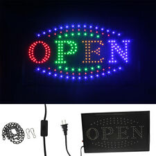 "Large Bright Animated Motion Flashing Business Led Open Sign with Switch 21""x13"""
