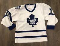 VTG 90's Toronto Maple Leafs Mike Gartner CCM Jersey Size Small