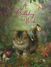 "Leanin' Tree glitter greeting card, ""Butterfly Kisses"", Charlotte Bird, birthday"