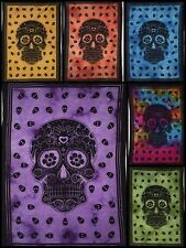 Small Tapestry Poster Dead Skull Collage Wall Hanging Cotton Fabulous Indian Art