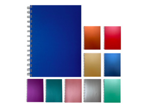 A5 Premium Notebook Notes Pearlised Notepad New Plain 140 Pages Colours