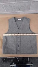 (STAINED) VINTAGE FILSON GARMENT GRAY  VEST 100% VIRGIN WOOL MENS SIZE  Medium