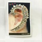 Gothic Punk Rock Crystal Clip Ear Cuff Stud Wrap Earring Fashion Women Jewelry