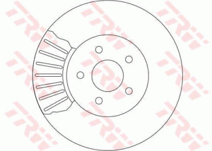TRW Brake Rotor Pair Front DF4147S fits Ford Mondeo 2.0 (HE)