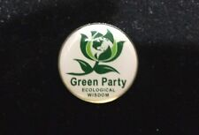 "Green Party  ""Ecological Wisdom"" 0.75"" Tie Tack Hat Lapel Pin Pinback"