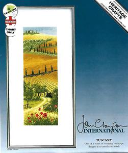 Heritage John Clayton International TUSCANY Cross Stitch CHART ONLY Italy