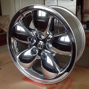"Dodge Ram 1500 pickup factory chrome clad wheel rim 20"" 2167A 2002-2005 Super"