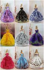 5 Hochzeit Puppe Kleidung Dress Kleider + 10 Paar Schuhe shoes Für Barbie