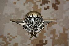 I001 Insigne militaire brevet parachutiste PARA Armée Française pucelle