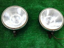 A PAIR OF LUCAS SPOT FOG LAMPS LIGHTS CLASSIC vintage FT/LR 19 Lucas