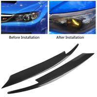 2x Carbon Fiber Headlight Eyelids Eyebrows For Subaru Impreza WRX STI 2008-2011