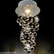 K9 Crystal LED Ceiling Light Diamond Chandelier Rain Drop Pendant Lamp