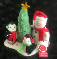 2006 Hallmark Jingle Pals Very Merry Trio Animated Musical Snowman Penguin Plush