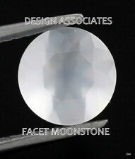 Natural Rainbow Moonstone Faceted RD, Cut Calibrated 14 MM White Color Gemstone