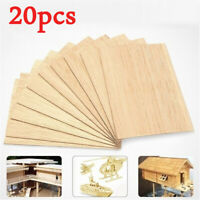 20X Solid Wooden Sheets Wood Plate Model for Kid DIY Handmade Toys Home Decor