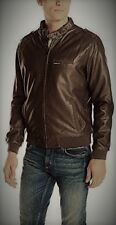 Members Only Leather CAFE Jacket - size 46 (XL)