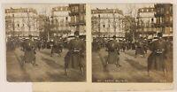 Scena Militaire Parigi Francia Foto Stereo Th1L3n Vintage Analogica