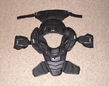 Used STX SHADOW Lacrosse SHOULDER PADS Black, Clean, Mens XL