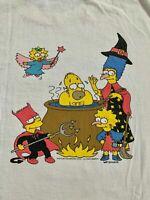 The Simpsons Vintage Promotional T-Shirt Fox's Halloween Bash 1994 Reprint FF213