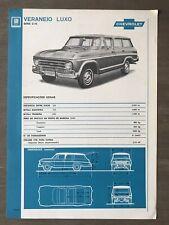 c1976 Chevrolet Veraneio Luxo (Série C-10) original Brazilian sales brochure
