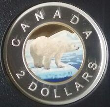 2018 $2 Toonie Proof Pure Silver Colour Coin Canada Polar Bear Classic DesignRCM