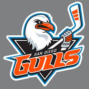San Diego Gulls Vinyl Sticker/Decal *AHL *Hockey *Minor League *California *NHL