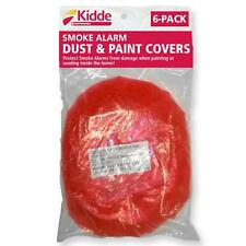 Smoke CO Alarm Dust Gas Detectors Paint Cover Protects Red Plastic 6 Pack