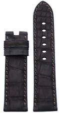 24x22 RIOS1931 for Panatime Mocha Nubuk Alligator Watch Strap For Panerai Deploy