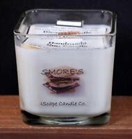 IScape Scented *Smore's* 11 Oz. Square Jar Wood Wick Soy Candle