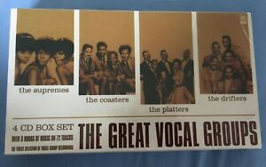 4 CD Box Set The Supremes The Coasters The Platters The Drifters Xmas Gift