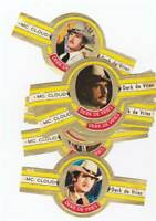 10 cigar bands Derk De Vries Tv-Serial Mc Cloud Xlviii yellow iss in 1973