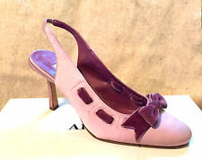 NEW NIB $70 ALFANI PINK SATIN BOW ACCENT PUMPS SLINGBACKS HEELS SHOES 6.5 36.5