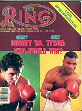 The Ring Boxing Magazine September 1986 Gerry Cooney Mike Tyson EX 060616jhe