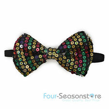 10 Colors Mens Womens Clip-on Sequin Style Party Bow Tie Tuxedo Accessories!