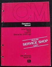 Original 1972 John Deere 7020 Tractor Operators Manual Clean Serial 2700 Amp Up